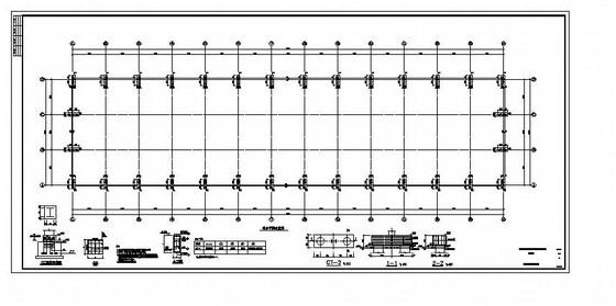 单层门钢厂房结构施工图