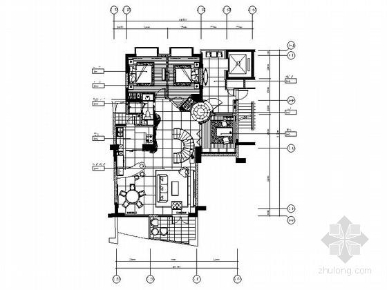 [成都]高档现代跃层四居室装修图