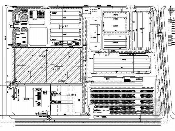 某汽车厂房及停车场总平面图设计