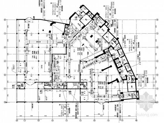 高层商业住宅建筑空调通风及防排烟施工图(VRV变频空调系统 含人防设计)