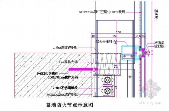 [山东]会展中心玻璃、铝板幕墙施工组织设计(节点图)