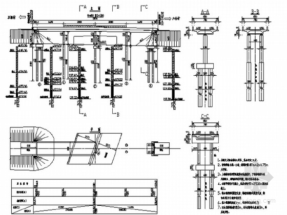 [黑龙江]普通钢筋混凝土连续箱梁桥施工图42张(箱梁宽8.5m)
