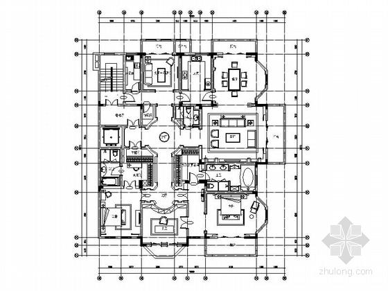 [南京]欧式风格大户型四居室施工图(含效果)