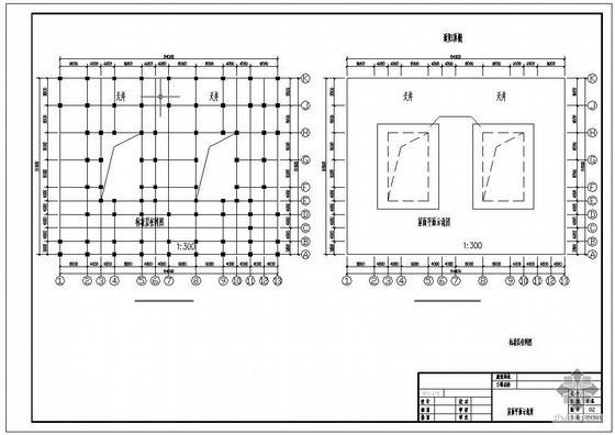 某简易市场大棚结构图