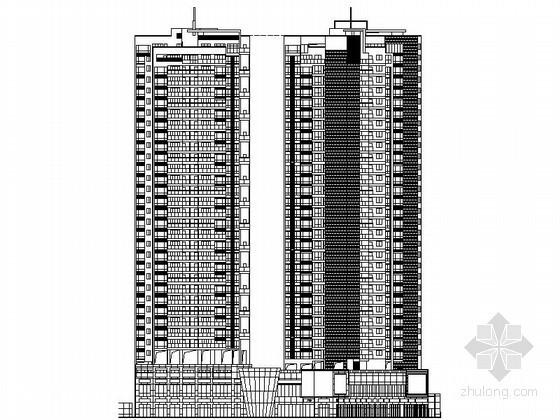 [深圳]某华府沿街三十二层住宅建筑施工图