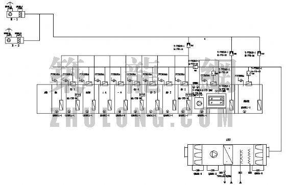 某大学研究院某实验室空调通风控制原理图