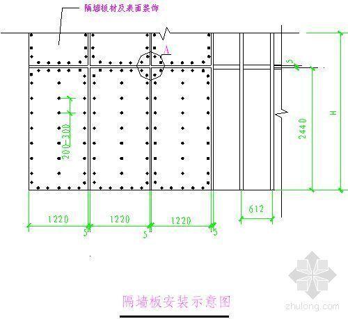 北京某俱乐部轻质隔墙施工方案