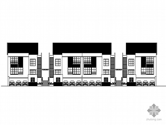 [深圳龙岗]某标准化小区建筑群建筑设计方案图