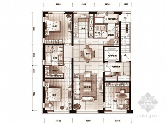 [北京]某高端国际化公寓户型图