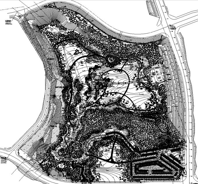 [重庆]山地郊野型汽车主题公园绿地景观设计全套施工图(2017年最新)