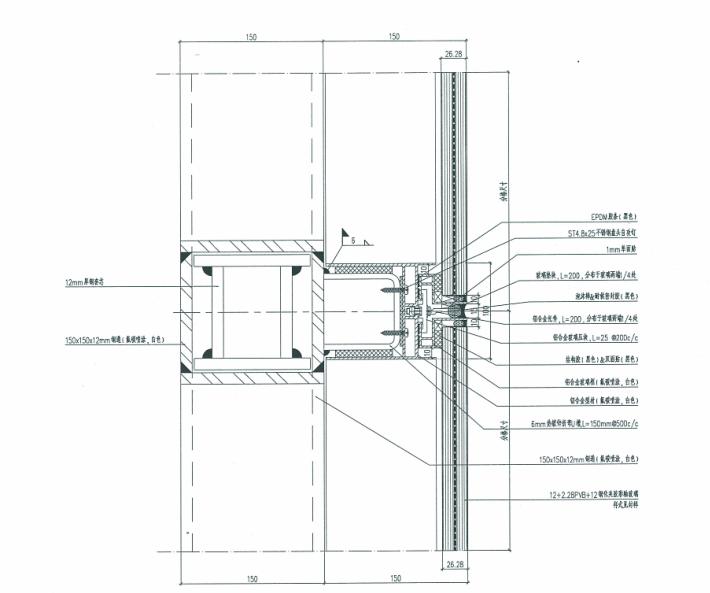 观光电梯玻璃幕墙、钢结构施工图及幕墙结构计算书_5
