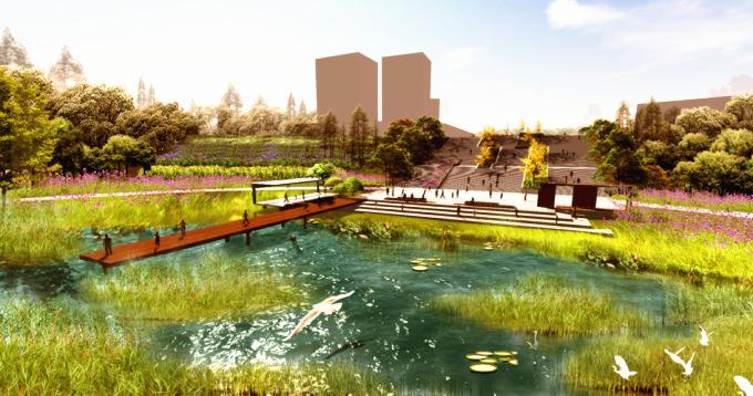[山西]滨河崖壁生态立体化湿地公园景观设计方案