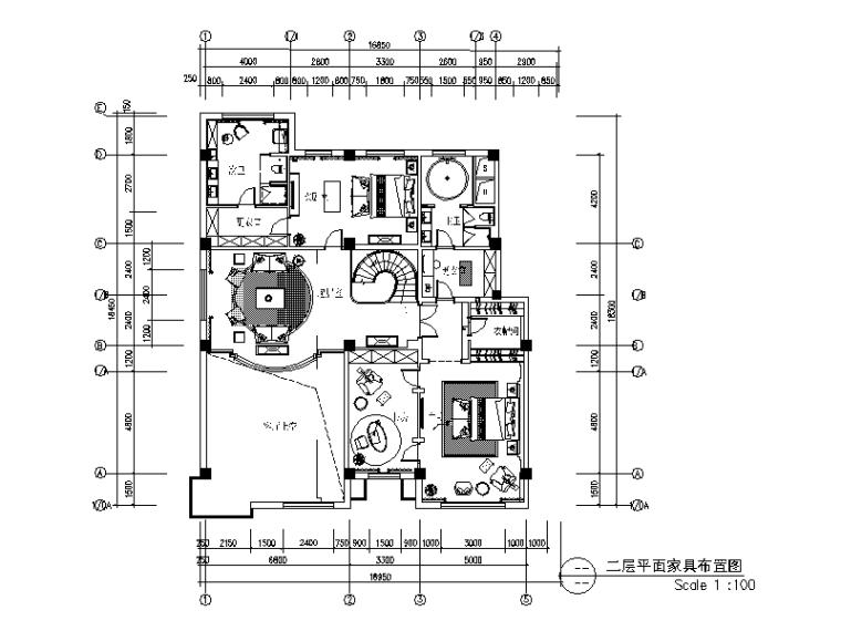 全套歐式古典豪宅設計CAD施工圖(含效果圖)