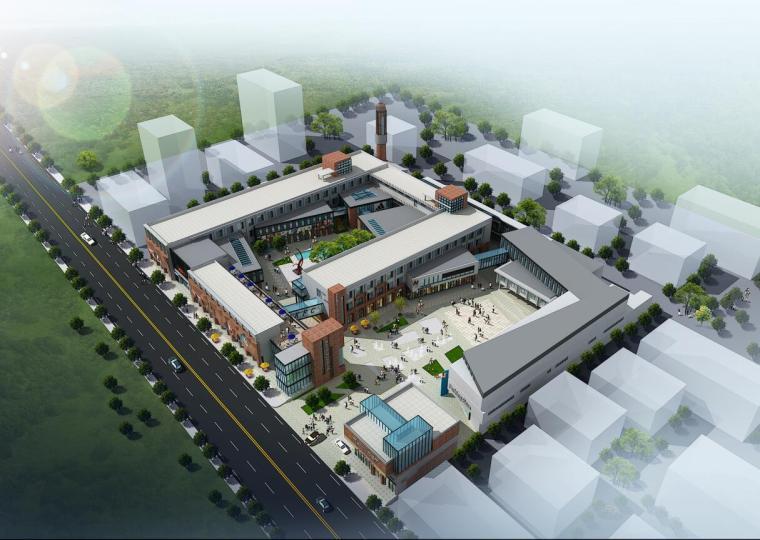 平面厂房规划规划文本资料下载-[山东]现代风格产业园企业办公楼总部规划及单体建筑设计方案文本(PPT+JPG)