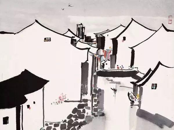 中式坡屋顶:现代手法营造的山水写意美景