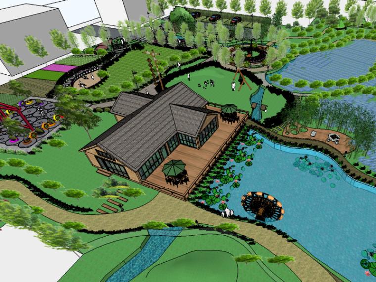 城市生态农业园民宿景观设计(果林采摘,欢乐丛林)
