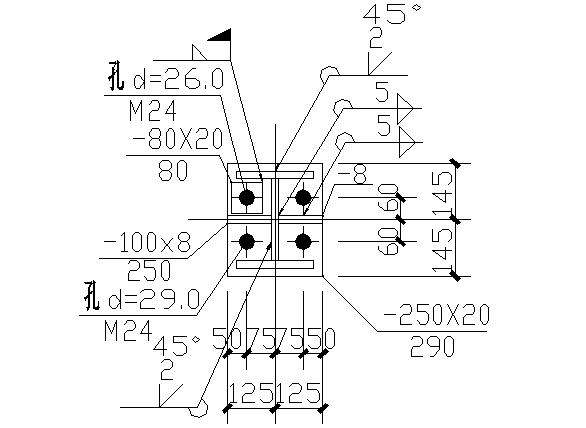成都门式刚架钢结构工程施工图(CAD,全套)_4