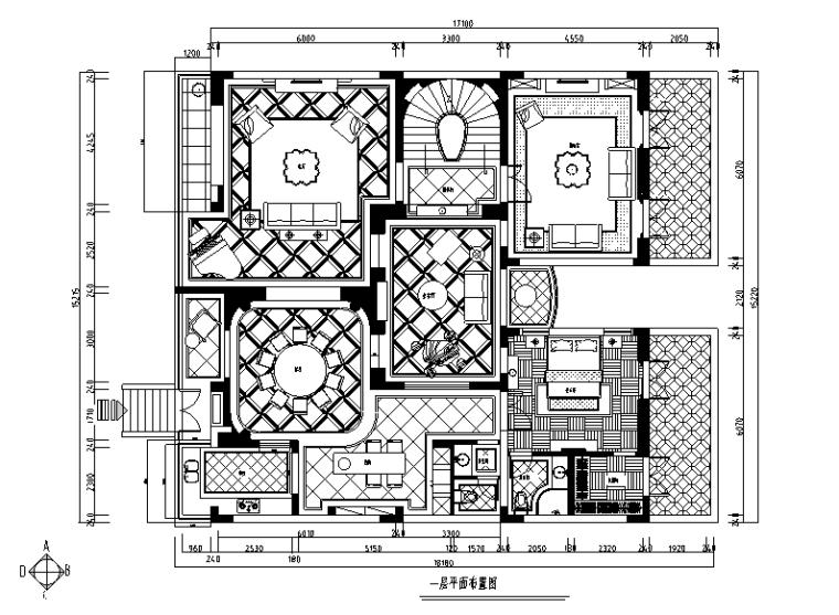 玫瑰半岛|南浔混搭风格自建别墅设计施工图(附效果图)
