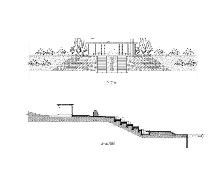 特色园林景观建筑设计施工图-游船码头-2