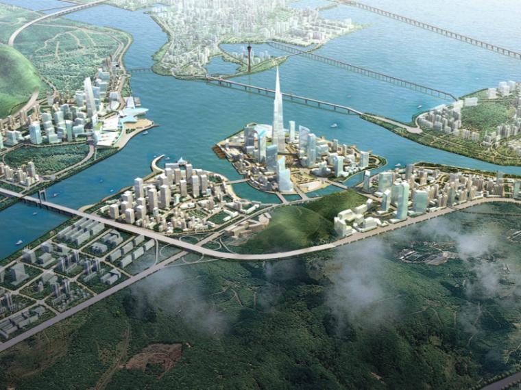 [广州]珠海十字门商务区城市规划设计方案国际征集