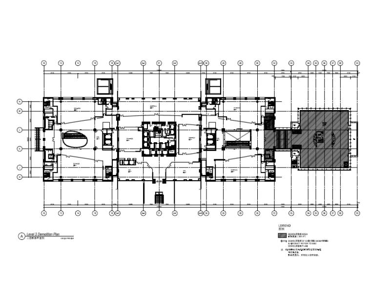 [北京]银泰中心商业公共区域设计施工图(附效果图+物料表+结构图纸+消防图纸)-照明平面图