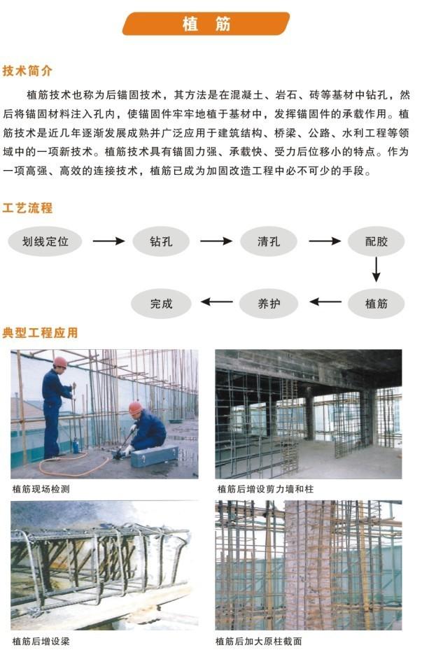 化学植筋固加固设计施工