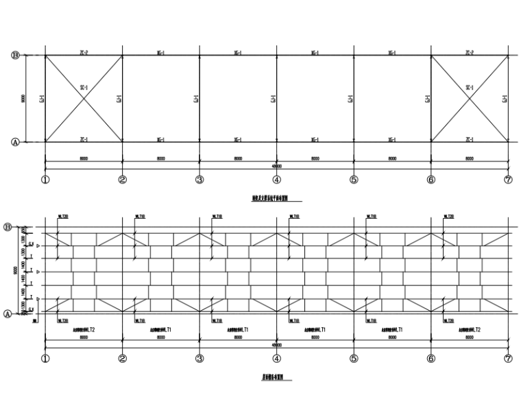 门式钢架轻型房屋钢结构固废站施工图纸
