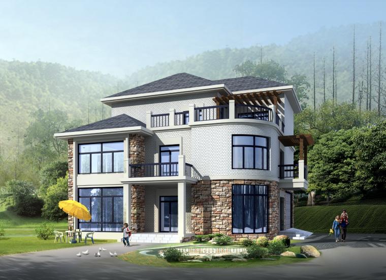 新中式農村自建房3層獨棟別墅建筑設計施工圖(含全套CAD圖紙)