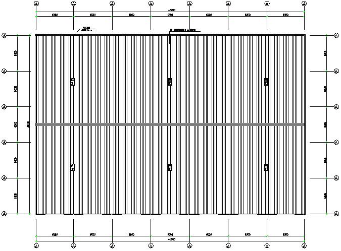 河南火电厂单跨门式刚架厂房钢结构工程施工图(CAD,8张)