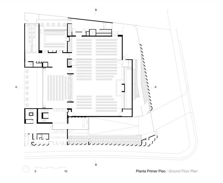 智利NBI社区里犹太教堂和社区中心的集合体-13