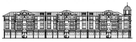 东莞市石碣镇某四层联排别墅建筑施工图