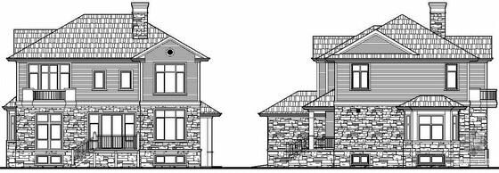 北方某二层美式别墅建筑施工图