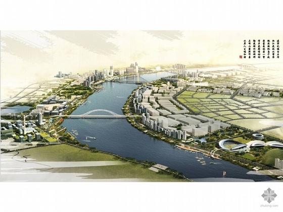 株洲湘江风光带滨水公共空间与环境景观设计方案