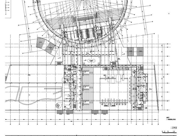 [江苏]体育中心游泳馆给排水消防施工图设计(虹吸雨水)