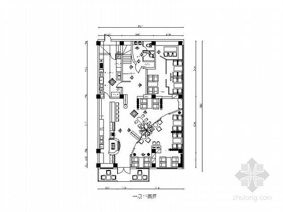 [青岛]意式风格咖啡厅装修施工图