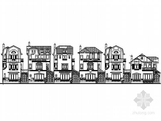 [上海]欧式风格3层联排别墅建筑施工图(多个户型)