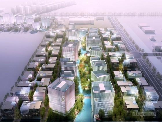 [上海]滨江地区现代风格产业园规划设计方案文本(含CAD)