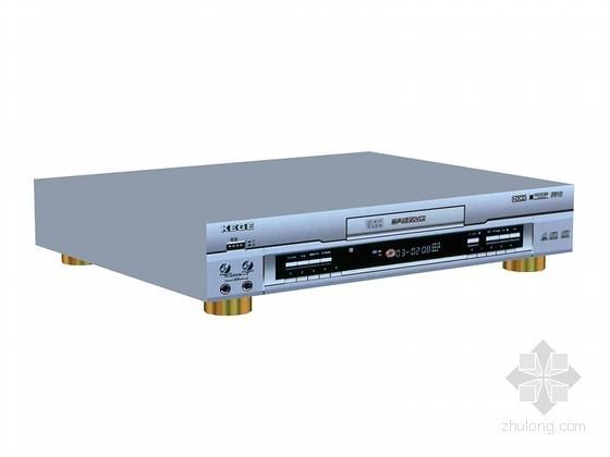 VCD播放器3D模型资料下载-VCD小家电3D模型下载