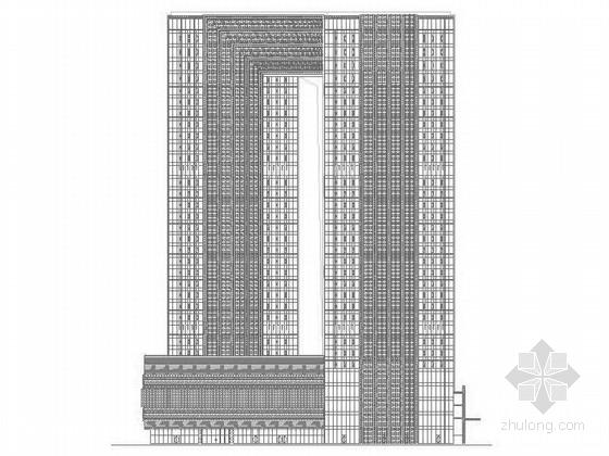 [四川]47层现代风格环球金融中心建筑施工图(知名事务所 含效果图)