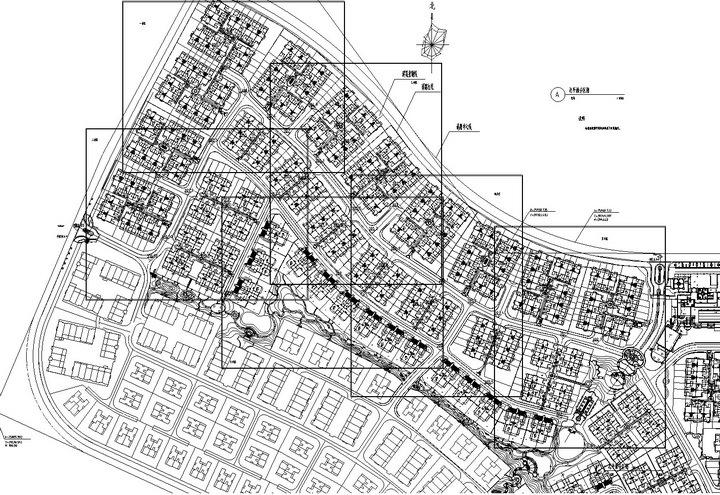 [重庆]中心区别墅小区一期组团、附属公园及样板区全套景观施工图