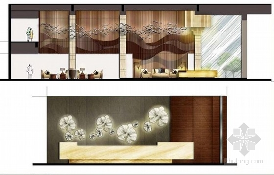 [贵阳]总投资10亿全球豪华五星级酒店设计方案大堂立面图