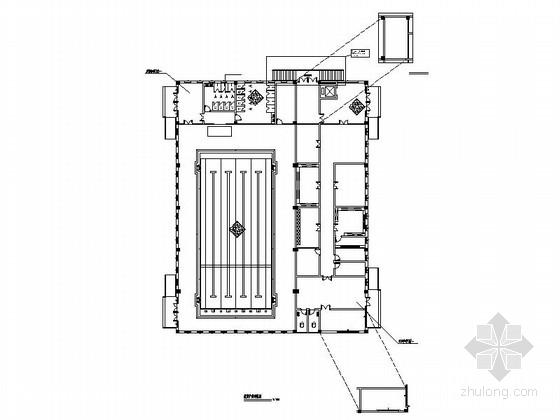 [广州]绿色初级学校现代体育馆CAD装修施工图