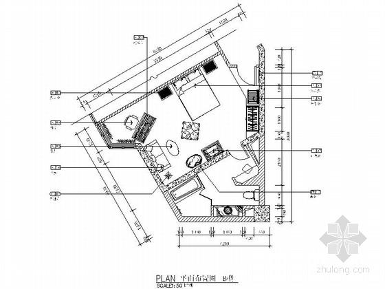 [株洲]现代豪华酒店客房CAD施工图