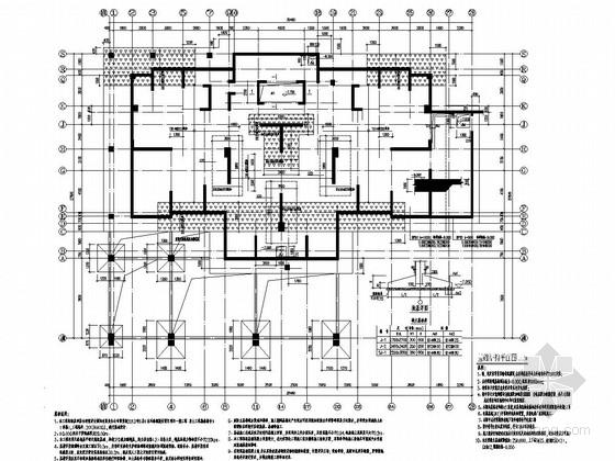 22层剪力墙结构高层住宅结构施工图(筏板基础)