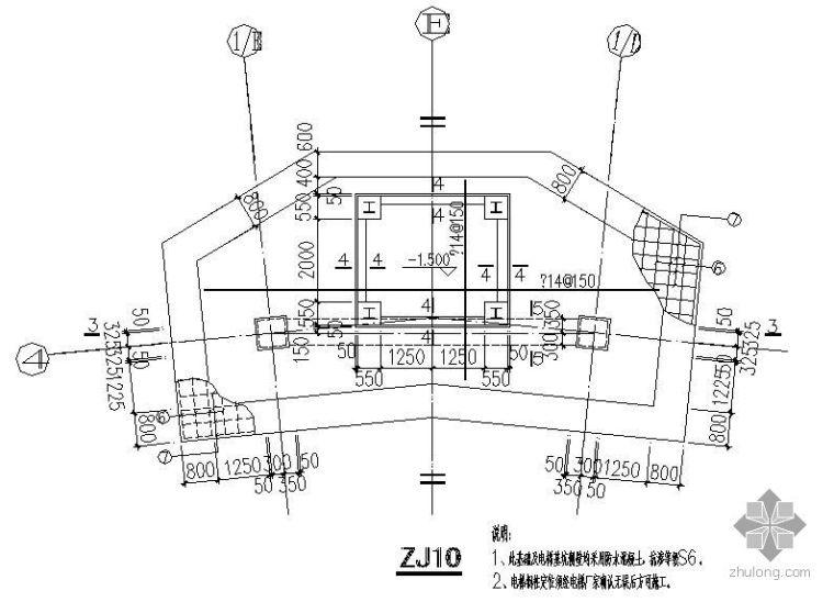 某观光梯基础节点构造详图