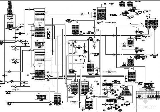 烟气脱硫装置工艺流程图