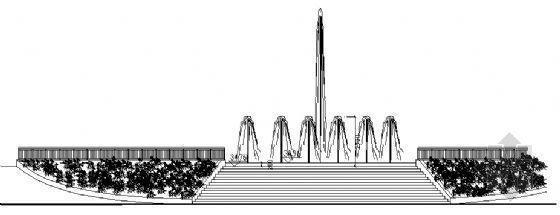 喷泉广场结构图