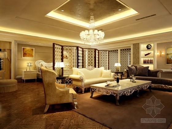 欧式卧室套房3D模型下载