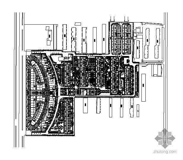 唐山某小区景观施工图总图部分