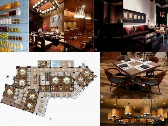 [北京]某公园美食会所室内装饰设计方案意向图